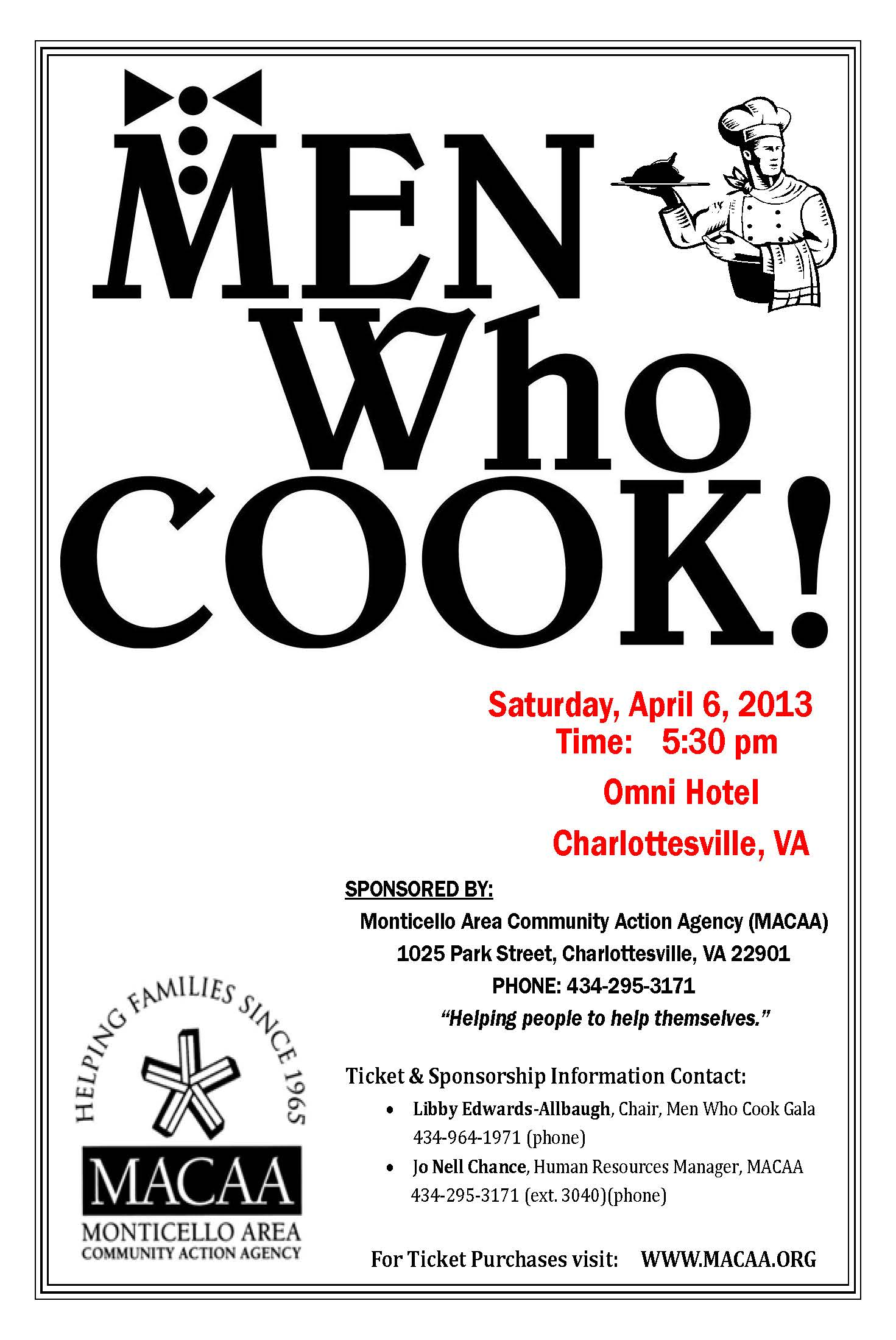2013 Flyer Men Who Cook
