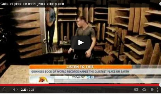 The quietest place on earth [VIDEO]